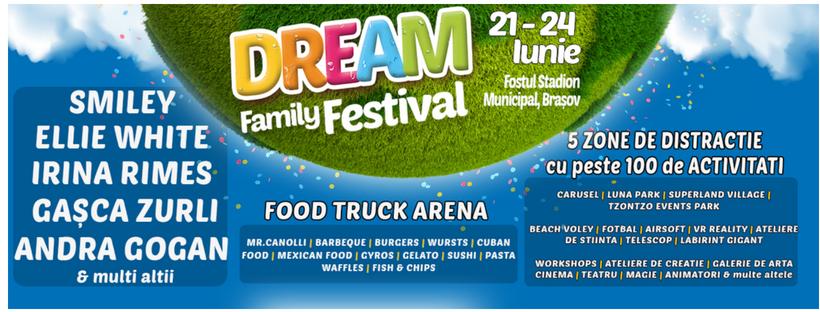 Dream Family Festival 21-24.06, Stadionul Municipal, Brașov