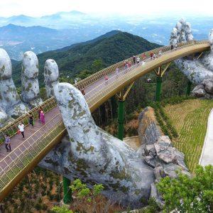 INEDIT: Mâinile care susțin podul de aur, pentru a păstra cerul în Da Nang – Vietnam