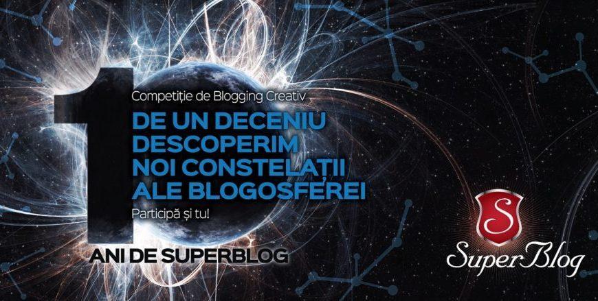 10 ani de SuperBlog, Competiție de Blogging Creativ